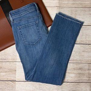 NYDJ Sheri Ankle raw hem maxwell wash size 2